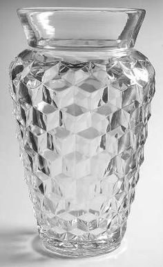 FostoriaAmerican-Clear, Bagged Flower Vase, $5299.00 at Replacements, Ltd