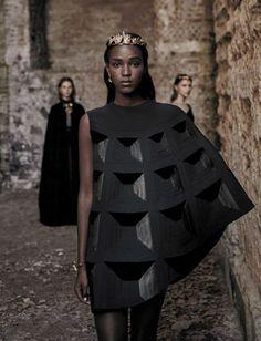 """a-state-of-bliss: """" Vogue Italia Sept 2015 'Valentino Haute Couture' - Leila Nda by Fabrizio Ferri """""""
