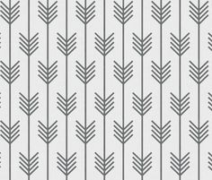 arrows white   gray fabric by holli_zollinger on Spoonflower - custom fabric