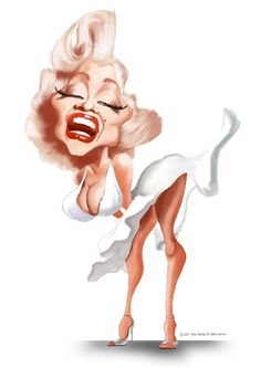 Caricature: Marilyn Monroe Caricature by Steve_Roberts
