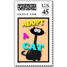 Adopt a Cat Postage Stamp