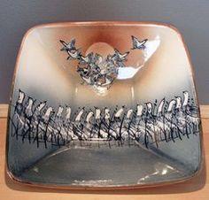 "Van Dop Gallery | Artists | ceramic: ""Deep Square Dish"" by Kinichi Shigeno International Artist, Garden Art, Unique Gifts, Arts And Crafts, Dish, Van, Entertaining, Engagement Rings, Ceramics"