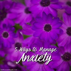 5 ways to manage anxiety.