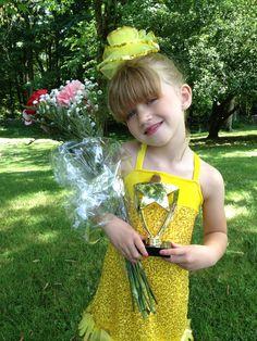 My daughter Lindsay after her dance recital. (2012)