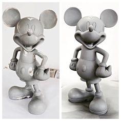 Trabalho de acabamento em nossa escultura do Mickey usando Primer automotivo lixa e paciência. Ficou perfeito!