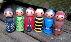 Little Bugs / Wood Peg Doll / Creative Play / by TheLittleGiftBox