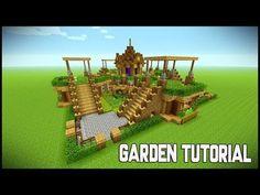 Minecraft: How To Build A Garden Tutorial / survival base tutorial. This episode of Minecraft Build Minecraft Farmen, Construction Minecraft, Casa Medieval Minecraft, Minecraft Welten, Minecraft Survival, Cool Minecraft Houses, Minecraft Tutorial, Minecraft Blueprints, Minecraft Crafts