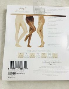 39d602249 Hanes Perfect Nudes Tummy Control Lot of 2 Size XL Nude 2   4 Hosiery  617914168766