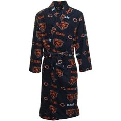 Chicago Bears Navy Highlight Mens Microfleece Robe