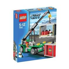 When it's time to unload cargo or clean up the docks in LEGO City, the Container Stacker is ready to do the heavy lifting. Lego Building Sets, Building For Kids, Lego Minecraft, Minecraft Party, Village Lego, Train Lego, Lego Crane, Figurine Lego, Lego Boards
