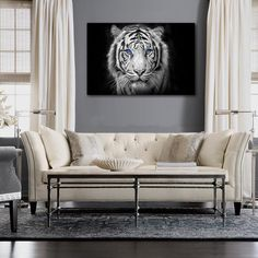 Snow Tiger Canvas Print