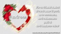 Felicitare cu inima pentru Andreea de Sf. Andrei