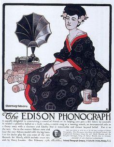 Guernsey Moore, Edison Phonographs, 1908