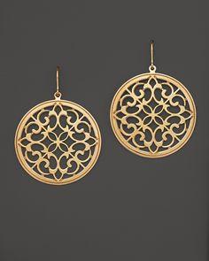 14k Gold Garden Gate Earrings