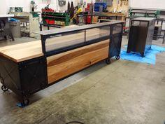Real Industrial Edge Furniture: Industrial reception desk