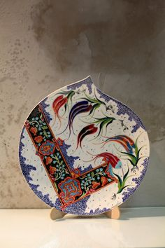 Handmade traditional Anatolian ceramic by IstanbulPottery Ceramic Plates, Ceramic Pottery, Ceramic Art, Turkish Tiles, Turkish Art, Islamic Art Pattern, Pattern Art, China Painting, Kintsugi