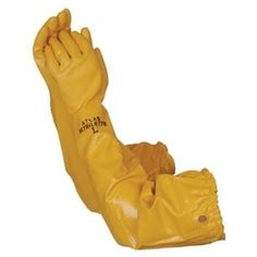 """Atlas 772 Nitrile Coated 26"""" Long Chemical Resistant Gloves.  The Atlas 772 Nitrile Coated extra long 26"""" sleeve glove has a full 100% cotton lining for full comfort. It protects your hands and extended arms from chemicals, punctures and abrasions.  Sold by the individual Pair or Dozen"""