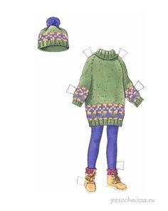 бумажная кукла вырезалки - одевалки