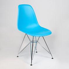 Silla TOWER -Color Edition- (Sillas Modern Classics) - en color azul, con patas de metal