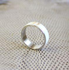Antler men ring stainless steel ring unisex ring by agatechristina, $28.00