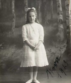 Princess Vera Constantinovna, youngest daughter of Grand Duke Konstantine Konstantinovich. Princess Vera was born in 1906. She survived the revolution and lived to the age of 94. She had the distinction of being being the last surviving member of the Romanov family who could remember Imperial Russia.