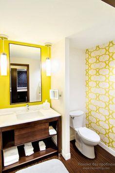 Желтый цвет в дизайне интерьера ванной комнаты   Оформляем ванную в желтых тонах