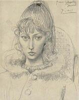 Pablo Picasso. Portrait of Sylvette David 01, 1954