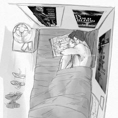 How nice should it be to sleep with you - # - # love couple drawings - Cute Couple Drawings, Cute Couple Art, Anime Love Couple, Couple Cartoon, Love Drawings, Cute Couples, Art Drawings, Character Art, Character Design