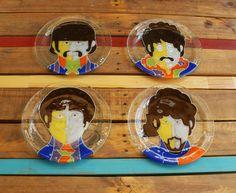 Plato Beatles vitrofusion - fused glass - fusing handmade