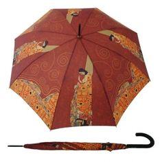"""Długi, automatyczny parasol markiDoppler - """"Nadzieja"""" G. Klimt z kolekcji Art Collection"""