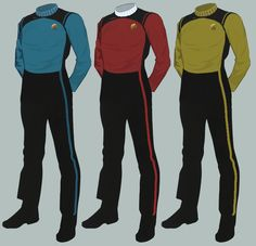Click this image to show the full-size version. Star Trek Data, Star Trek Uniforms, Marching Band Uniforms, Marvel Costumes, Rear Admiral, Color Meanings, Star Trek Universe, Look Older, Collar Shirts