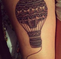 Any traveler or explorer will love this hot air balloon tattoo.