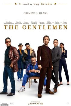 The Gentlemen is an upcoming English action crime movie, starring Matthew McConaughey, Charlie Hunnam, Michelle Dockery, and Jeremy Strong. The film directed by Guy Ritchie and produced by Miramax. Michelle Dockery, Charlie Hunnam, Gentleman Movie, Streaming Vf, Streaming Movies, Sherlock Holmes, Em Breve Nos Cinemas, Mission Impossible 7, Film Noir