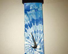 Blue Tie Dye Nike head tie Black White | Etsy