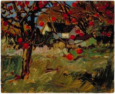Group of Seven Painter J. Artist's Home and Orchard, 1927 Group Of Seven Art, Group Of Seven Paintings, Paintings I Love, Tom Thomson, Emily Carr, Canadian Painters, Canadian Artists, Jackson, Opposite Colors