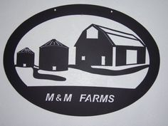 Metal Farm Sign can be customized by custommetalart on Etsy