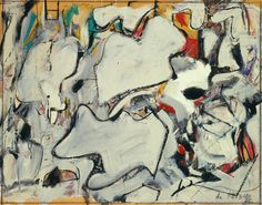 Willem de Kooning, American, 1904 - 1997 Attic Study, 1949 Oil, enamel, and pencil on paperboard mounted on hardboard