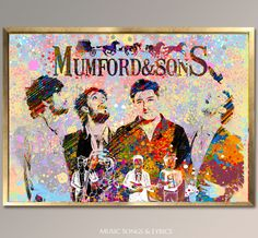 Mumford and Sons, Mumford and Sons Art. Watercolor. Music Poster, Room Decor, Music Gift, Musician, Gifts for Musicians, Musicians Gifts by MusicSongsAndLyrics on Etsy