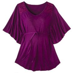 Liz Lange® for Target® Maternity 3/4-Sleeve Fashion Top - Purple Plum
