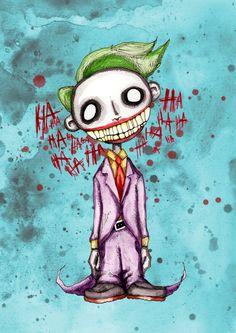 Evil Laughing Clown Fine Art Print by LVBart on Etsy