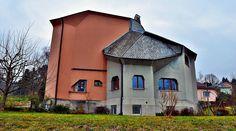 Dornach - Haus de Jaager  - rückseite - am Rüttiweg, erbaut 1921. Architektur von Rudolf Steiner.