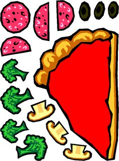 Pizza.slice topping printable (Good printable and craft ideas)