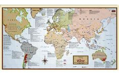 Wine Region Map Of The World:Amazon:Office Products