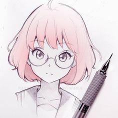 new topic: Mirai Kuriyama with new glasses! - new topic: Mirai Kuriyama with new glasses! I want a : new topic: Mirai Kuriyama with new glasses! - new topic: Mirai Kuriyama with new glasses! Anime Drawings Sketches, Anime Sketch, Manga Drawing, Manga Art, Cute Drawings, Drawing Eyes, Anime Art, Sketch Drawing, Drawing Art