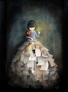 in Entre Lápis e Pincéis: ilustração de Victoria Assanelli