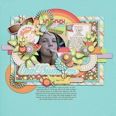 Cool Summer by Jady Day Studio Cluster and colors: Mint Chocolate by Tinci Designs Miss Molly Brown by Darcy Baldwin