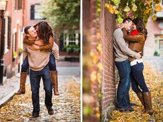 Engagement photos in Beacon Hill