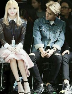 Exo Couple, Blackpink Lisa, Chanyeol, Kai, Iphone Wallpaper, Queens, Fanart, Idol, Couples