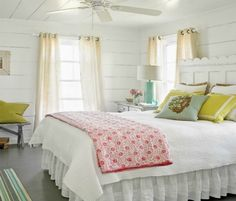 Cottage Bedroom House of Turquoise: Tiffany McWhorter Beach House Bedroom, Beach House Decor, Home Bedroom, Bedroom Decor, Home Decor, Seaside Bedroom, 1930s Bedroom, Summer Bedroom, Bedroom Country