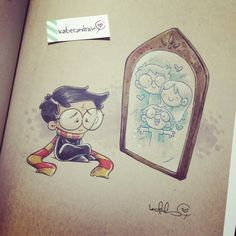 harry potter fan art. this made me sad but it's so cute